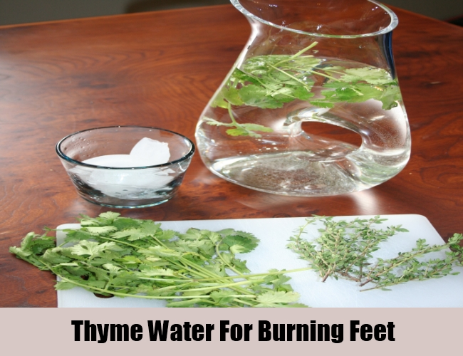 Thyme Water For Burning Feet