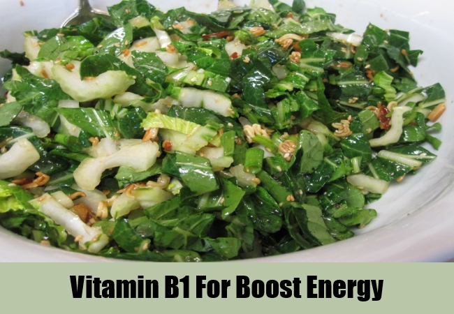 Vitamin B1 For Boost Energy