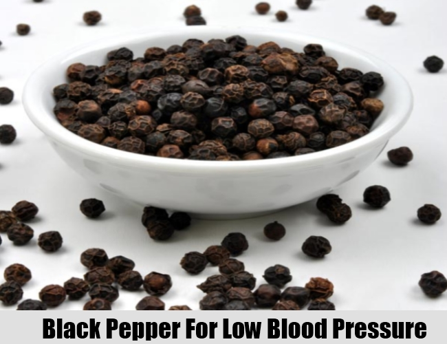 Black Pepper For Low Blood Pressure