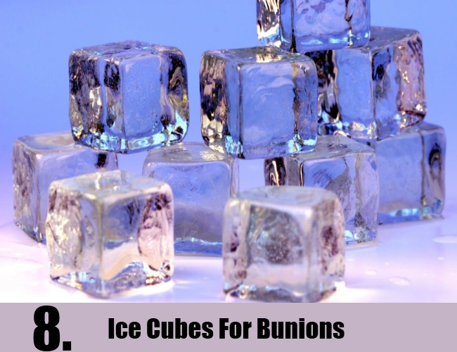 Ice Cubes For Bunions