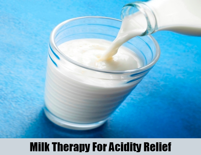Milk Therapy For Acidity Relief