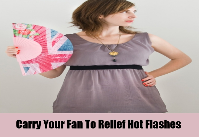 Carry Your Fan To Relief Hot Flashes