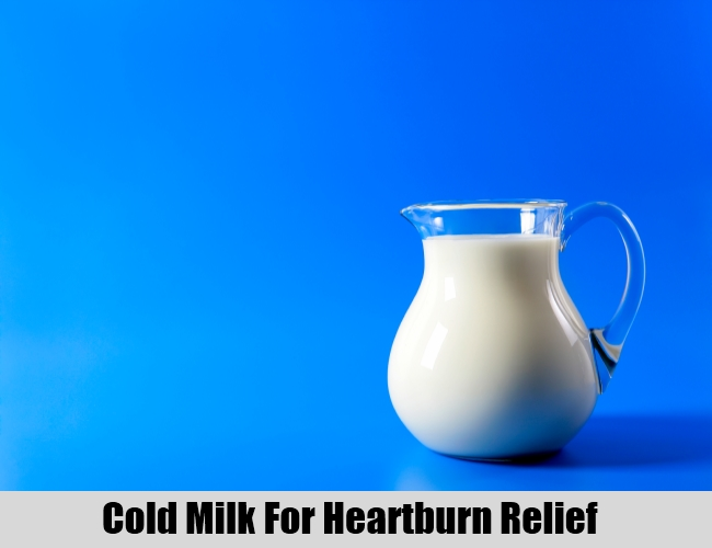 Cold Milk For Heartburn Relief
