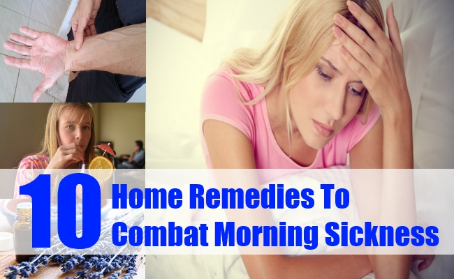 Home Remedies To Combat Morning Sickness