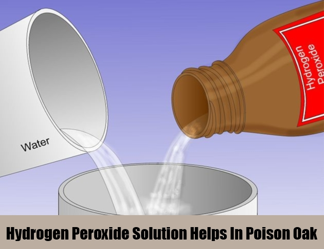 Hydrogen Peroxide Solution Helps In Poison Oak
