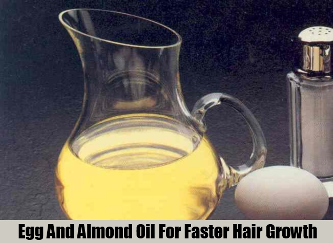 Egg And Almond Oil For Faster Hair Growth