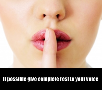 Give Rest To Your Vocal Chords