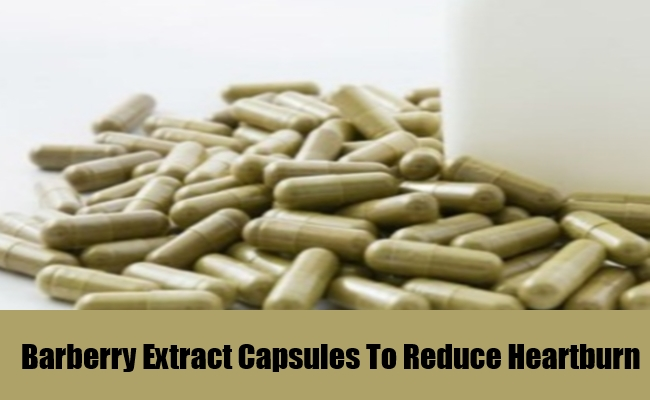 Barberry Extract Capsules To Reduce Heartburn