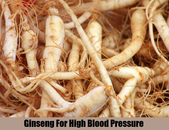 Ginseng For High Blood Pressure
