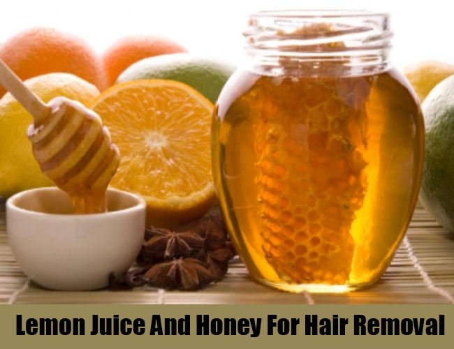 Lemon Juice And Honey For Hair Removal