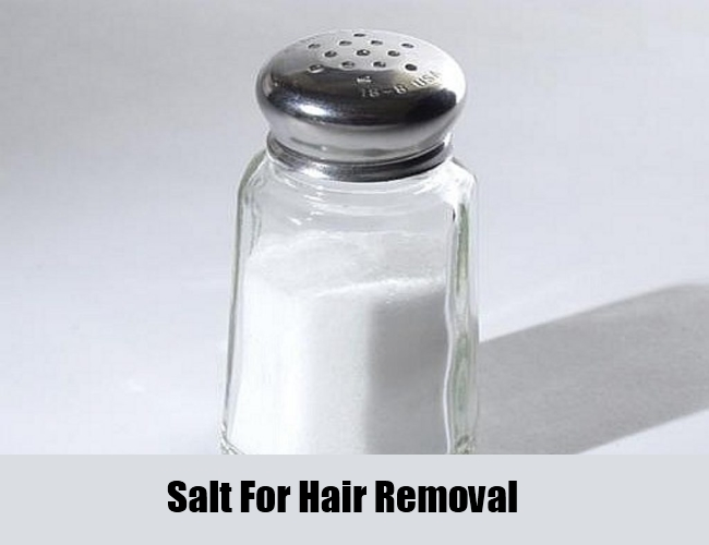 Salt For Hair Removal