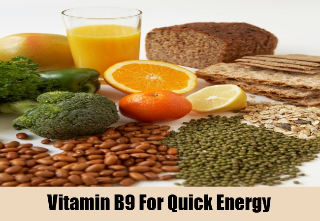 Vitamin B9 For Quick Energy