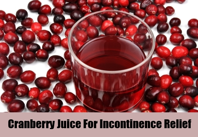 Cranberry Juice For Incontinence Relief