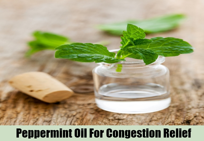 Peppermint Oil For Congestion Relief