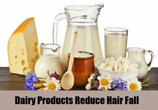 Dairy Products Reduce Hair Fall