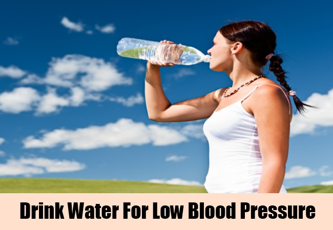 Drink Water For Low Blood Pressure
