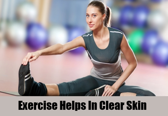 Exercise Helps In Clear Skin