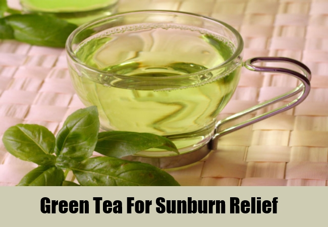 Green Tea For Sunburn Relief