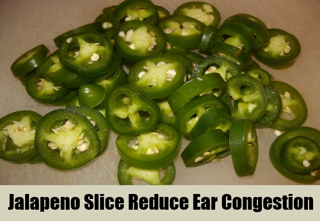 Jalapeno Slice Reduce Ear Congestion