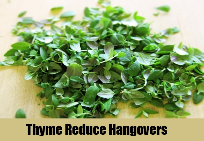 Thyme Reduce Hangovers