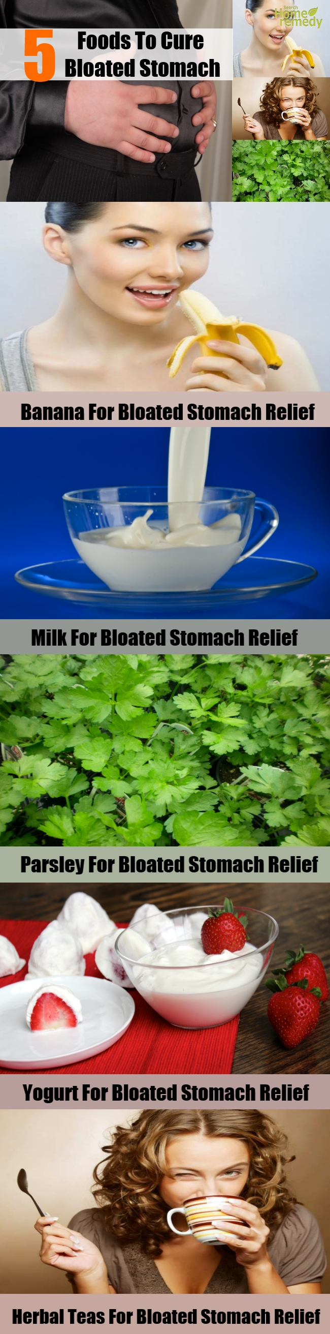 5 Foods To Cure Bloated Stomach