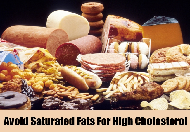 Avoid Saturated Fats For High Cholesterol