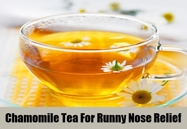 Chamomile Tea For Runny Nose Relief