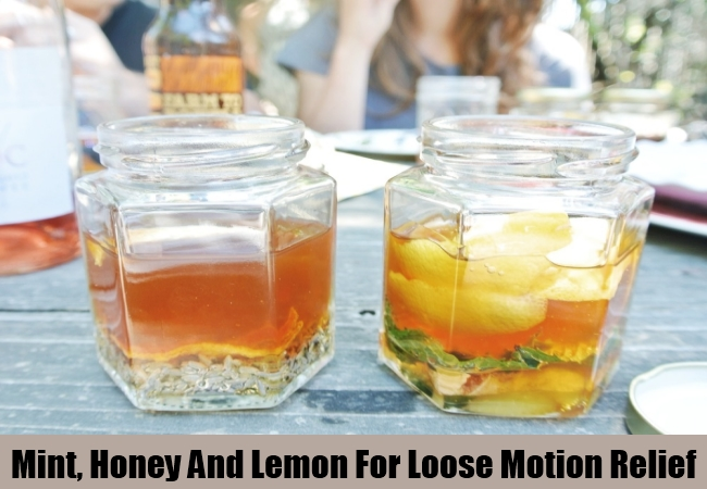 Mint, Honey And Lemon For Loose Motion Relief