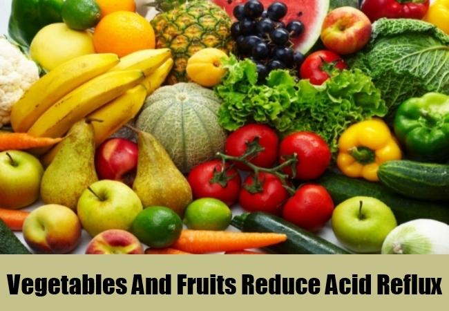 Vegetables And Fruits Reduce Acid Reflux
