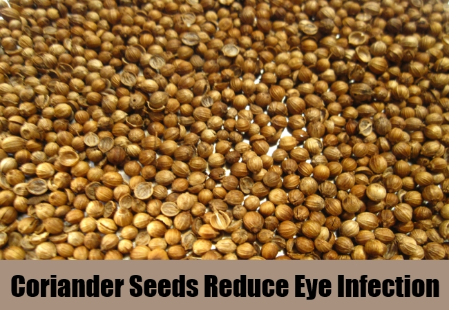 Coriander Seeds Reduce Eye Infection