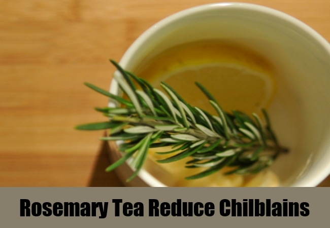 Rosemary Tea Reduce Chilblains