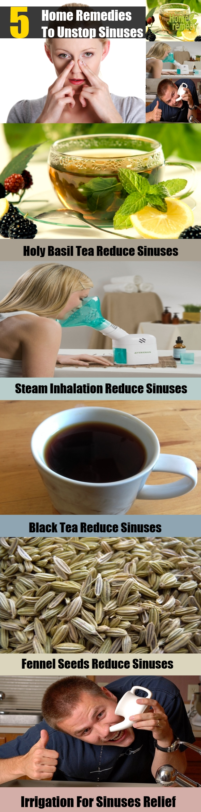 5 Home Remedies To Unstop Sinuses