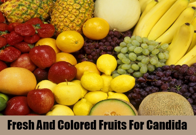 Fresh And Colored Fruits For Candida