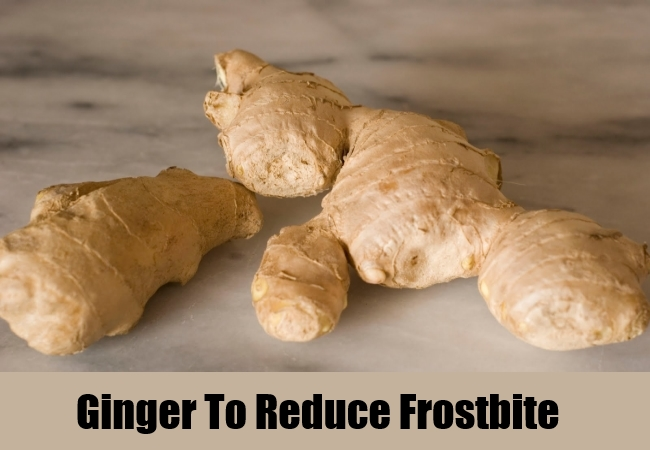 Ginger To Reduce Frostbite