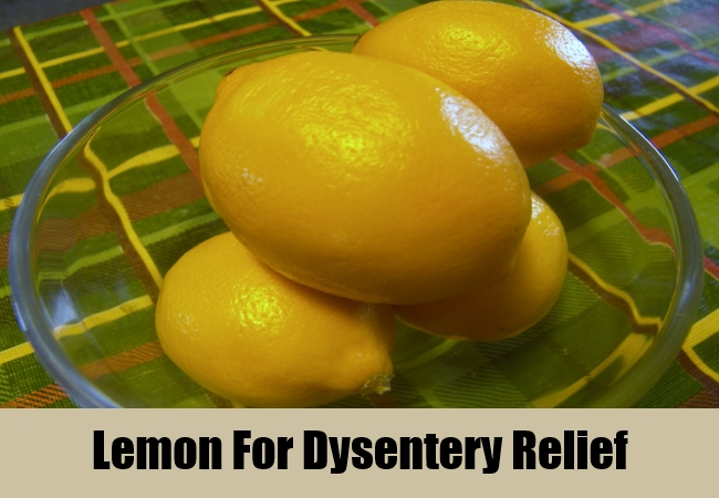 Lemon For Dysentery Relief