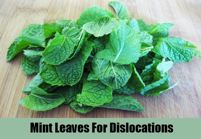 Mint Leaves For Dislocations