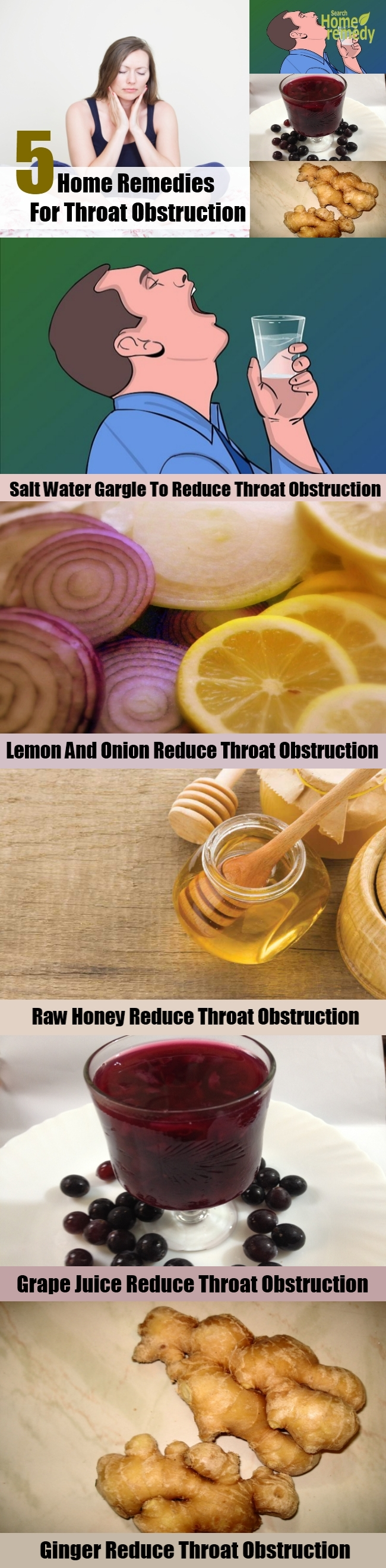 5 Home Remedies For Throat Obstruction