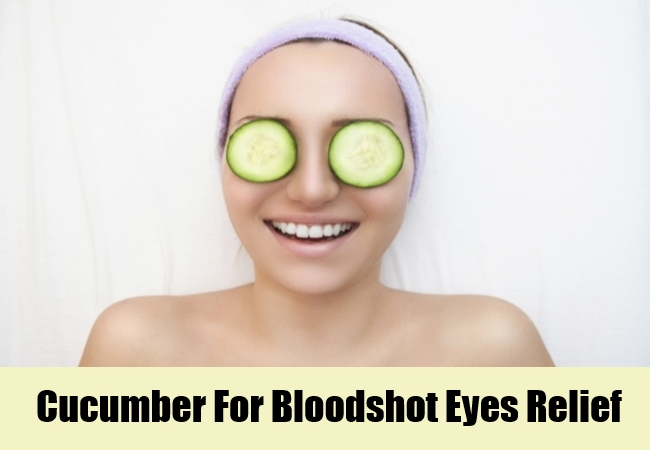 Cucumber For Bloodshot Eyes Relief