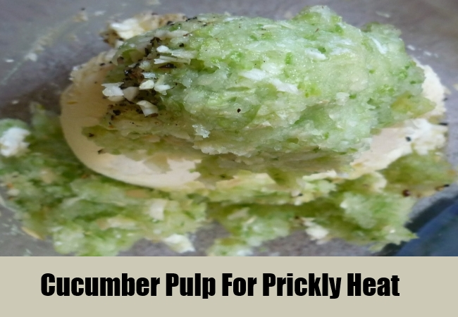 Cucumber Pulp For Prickly Heat