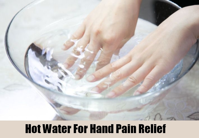 Hot Water For Hand Pain Relief