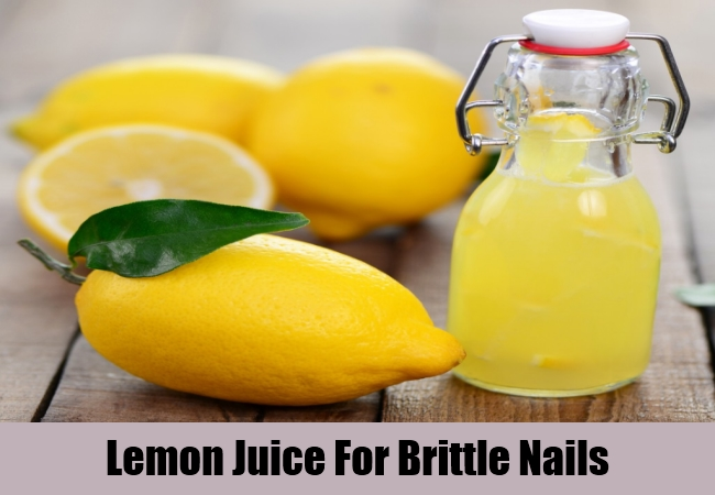 Lemon Juice For Brittle Nails