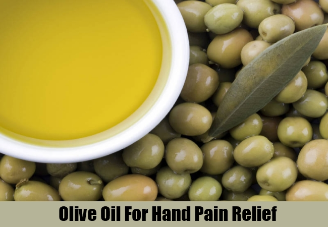 Olive Oil For Hand Pain Relief