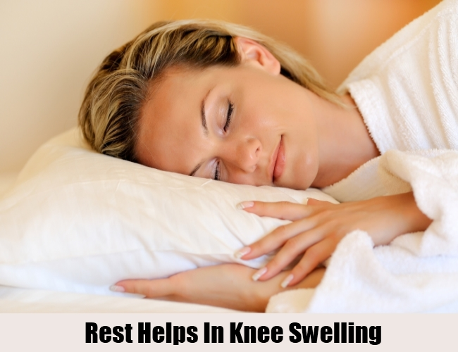 Rest Helps In Knee Swelling