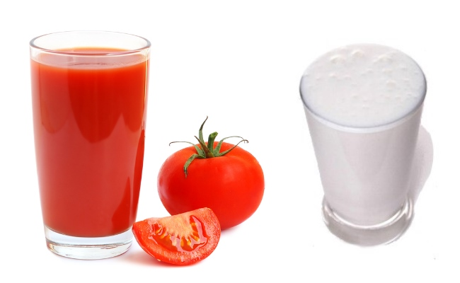 Mix Of Butter Milk And Tomato Juice