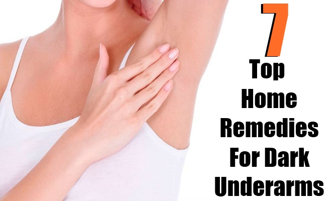 7 Top Home Remedies For Dark Underarms