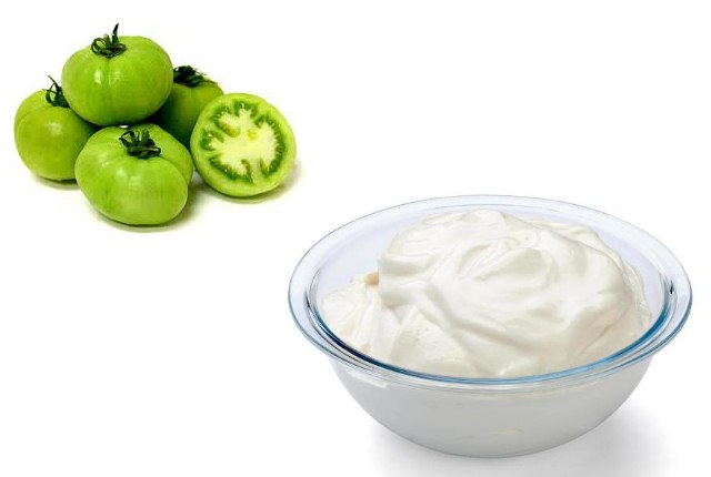 Curd And Green Tomato