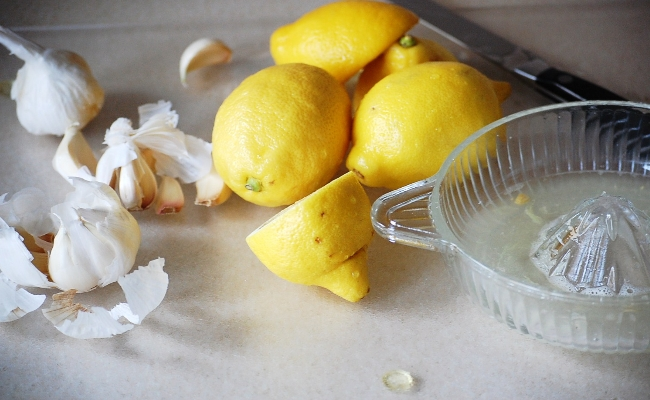 Garlic And Lemon Juice