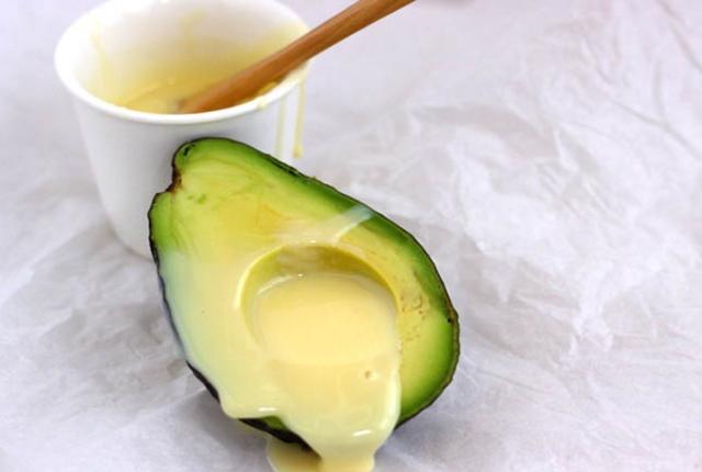 Apply Avocado And Milk Paste