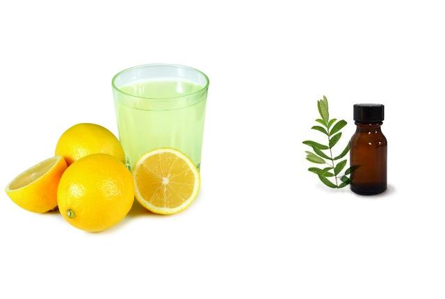 Lemon Juice And Tea Tree Oil