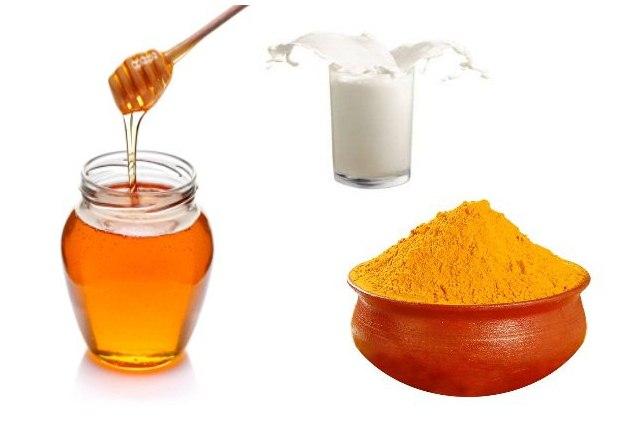 Milk Honey And Turmeric Mask